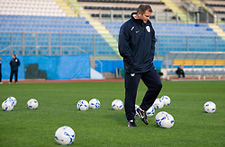 Head coach of Slovenian football national team Matjaz Kek at at practice a day before 2010 FIFA Qualification match between San Marino and Slovenia, on October 13, 2009, in Serravalle Stadium, San Marino.  (Photo by Vid Ponikvar / Sportida)