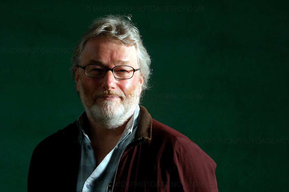 EDINBURGH, UK - 16th August 2010: Author portrait session coverage of The Edinburgh International Book Festival 2010 at Charlotte Square in Edinburgh...Picture shows author Iain Banks..(Photograph: Richard Scott/MAVERICK)