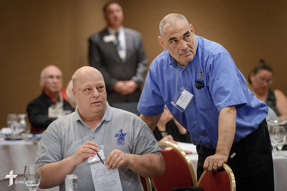 Attendees listen during the Operation Barnabas conference event on Thursday, March 15, 2018, at the Hilton St. Louis Airport hotel in St. Louis. LCMS Communications/Erik M. Lunsford