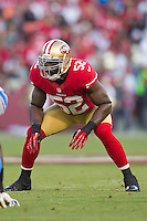 16 September 2012: Linebacker (52) Patrick Willis of the San Francisco 49ers against the Detroit Lions during the first half of the 49ers 27-19 victory against the Lions in an NFL football game at Candlestick Park in San Francisco, CA.