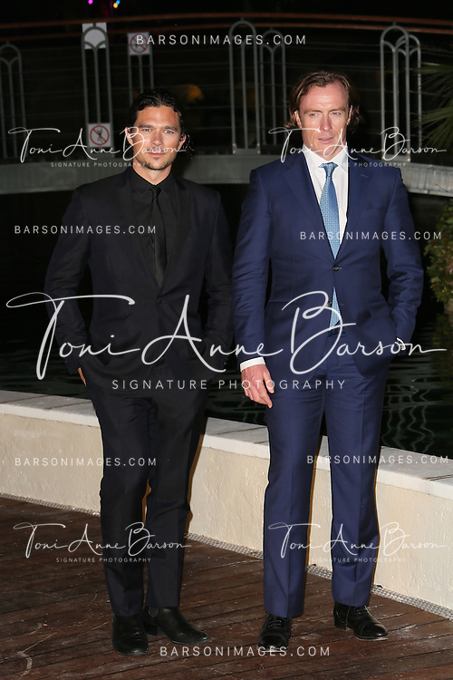 """MONTE-CARLO, MONACO - JUNE 10:  Toby Stephens and Luke Arnold attend """"Black Sails STARZ"""" Party  at the Monte Carlo Bay Hotel on June 10, 2014 in Monte-Carlo, Monaco.  (Photo by Tony Barson/FilmMagic)"""