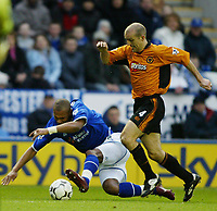 Foto: Digitalsport<br /> NORWAY ONLY<br /> Leicester v Wolverhampton<br /> 28th February 2004<br /> <br /> MARCUS BENT AND ALEX RAE