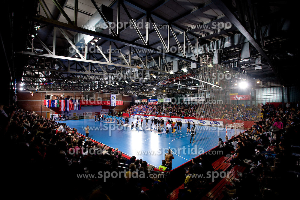 Arena Kodeljevo at handball match of Round 3 of Champions League between RK Krim Mercator and Hypo Niederosterreich, on November 8, 2009, in Arena Kodeljevo, Ljubljana, Slovenia.  Krim won 35:24. (Photo by Vid Ponikvar / Sportida)