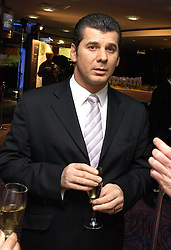 PAUL VALLONE Divisional MD of Berkeley Homes at a sales event for the exclusive Chelsea Bridge Wharf in aid of CLIC Sargeant cancer charity held at Stamford Bridge football stadium, Chelsea, London on 7th February 2006.<br /><br />NON EXCLUSIVE - WORLD RIGHTS