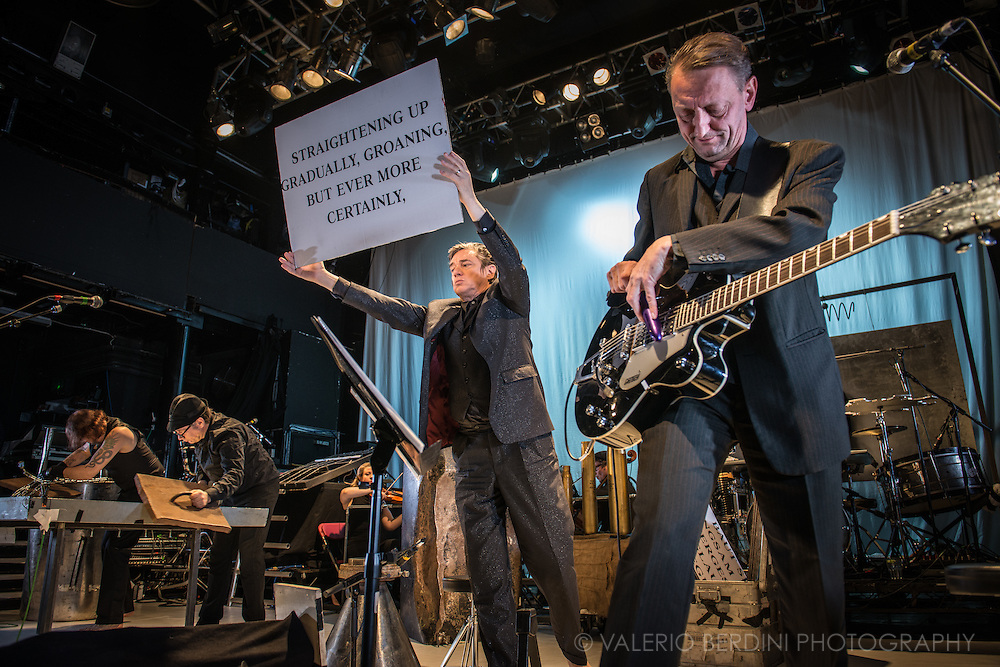 Einsturzende Neubauten performing Lament at Koko in London on 19 November 2014<br />