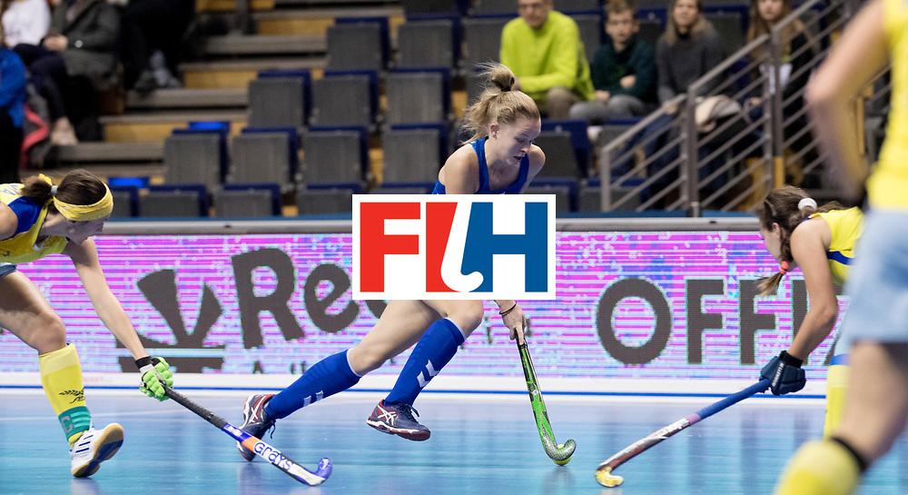 BERLIN - Indoor Hockey World Cup<br /> Women: United States - Kazakhstan<br /> foto: ZANOLLI Corinne.<br /> WORLDSPORTPICS COPYRIGHT FRANK UIJLENBROEK