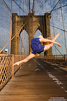 Dance As Art- The New York City Dance Photography Project- Brooklyn Bridge with dancer Courtney McKay