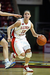 15 March 2007: Megan McCracken works the outside guarded by Kadie Riverin.. The Owls of Rice university visited the Redbirds of Illinois State University at Redbird Arena in Normal Illinois for a round one WNIT game.
