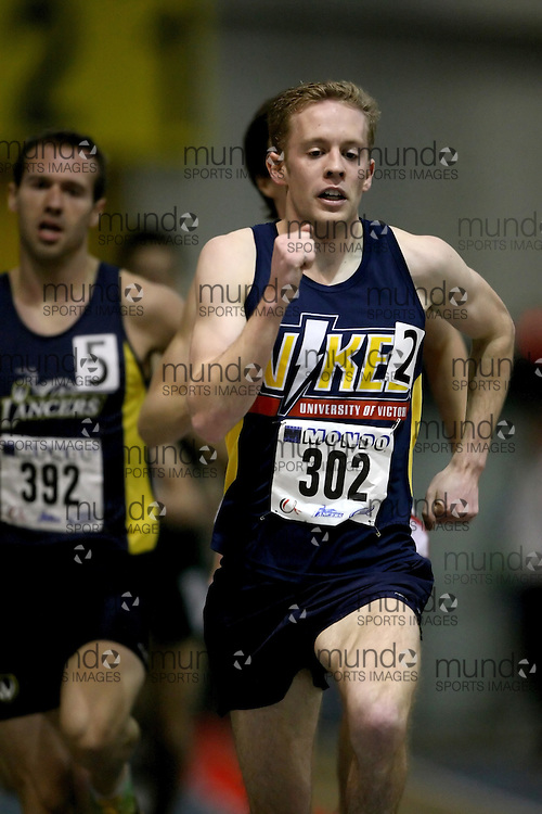 Windsor, Ontario ---14/03/09--- Logan Burke of  the University of Victoria competes in the Men's 1500m Final at the CIS track and field championships in Windsor, Ontario, March 14, 2009..Sean Burges Mundo Sport Images