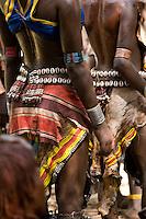 Hamer women dress in their finest for the Bull Jumping Ceremony