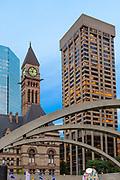 Toronto Skyline with old City Hall - Sunset July 2014