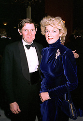 MR IAN SHACKLETON and his wife, royal lawyer FIONA SHACKLETON, at a dinner in London on December 2nd1996.LUC 22