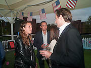 FRANCESCA DEL BALZO; JAMES MIDDLETON; HAMISH SCOTT, Charlie Gilkes and Duncan Stirling host Inception Group's Hamptons Garden party on the rooftop garden of the Ballymore marketing suite overlooking the site of the new US embassy. Embassy Gardens, London SW8.  12 July 2012.