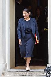 London, October 10 2017. International Development Secretary Priti Patel attends the UK cabinet meeting at Downing Street. © Paul Davey