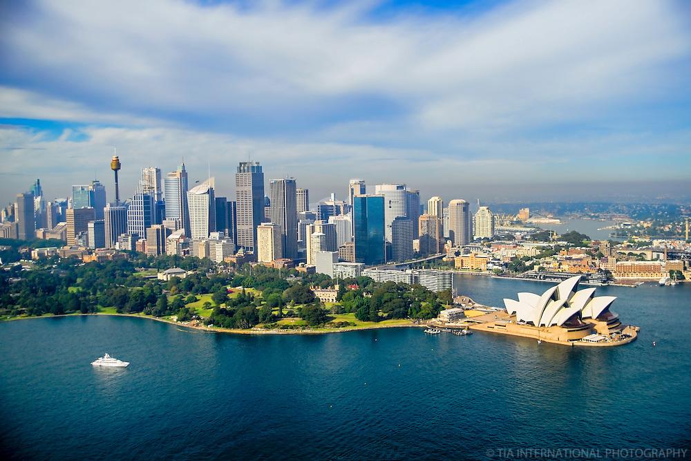 Sydney Skyline featuring Royal Botanic Gardens & Opera House