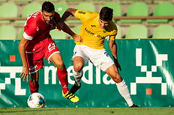 Mario Lucas Horvat of Aluminij vs Ante Vrljičak of Bravo during football match between NK Bravo and NK Aluminij in 5th Round of Prva liga Telekom Slovenije 2019/20, on August 9, 2019 in Sports park ZAK, Ljubljana, Slovenia. Photo by Vid Ponikvar / Sportida