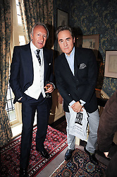 Left to right, HAROLD TILLMAN and PETER YORK at a party to celebrate the publication of Imperial Bedrooms by Bret Easton Ellis held at Mark's Club, 46 Charles Street, London W1 on 15th July 2010.