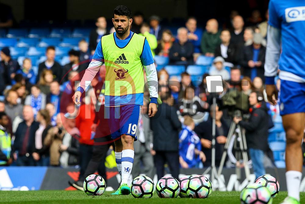 Diego Costa of Chelsea during warm ups - Mandatory by-line: Jason Brown/JMP - 01/04/2017 - FOOTBALL - Stamford Bridge - London, England - Chelsea v Crystal Palace - Premier League