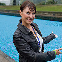 Hampton Court England Aug 31st  Eastenders actress Emma Barton attends The Great British Duck Race a fundraising event  on the river Thames where 250,000 blue plastic ducks have been sent down the river  in an attempt to beat the previous world record .