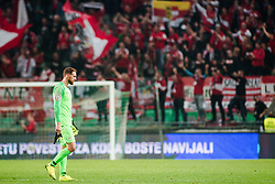 OBLAK Jan of Slovenia after the 2020 UEFA European Championships group G qualifying match between Slovenia and Austria at SRC Stozice on October 13, 2019 in Ljubljana, Slovenia. Photo by Peter Podobnik / Sportida