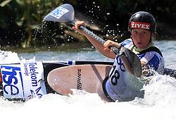 Nina Mozetic (SLO) of Women's K1 Kayak Single at Heats - 1st Run of ICF Kayak/Canoe Slalom Racing World Cup Tacen 2008, on June 28, 2008, Ljubljana, Slovenia. (Photo by Vid Ponikvar / Sportal Images)../ Sportida)