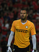 Inter Milan goalkeeper Samir Handanovic during the warm up before  an International Champions Cup game won by Manchester United 1-0, Saturday, July 20, 2019, in Singapore. (Kim Teo/Image of Sport)