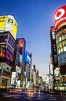 The Ginza at twilight, Tokyo, Japan