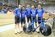 Men Team Pursuit, Gold medal, Elia Viviani (Italy), Francesco Lamon (Italy), Filippo Ganna (Italy), Michele Scartezzini (Italy), Liam Bertazzo (Italy), during the UEC Track Cycling European Championships Glasgow 2018, at Sir Chris Hoy Velodrome, in Glasgow, Great Britain, Day 2, on August 3, 2018 - Photo Luca Bettini / BettiniPhoto / ProSportsImages / DPPI - Belgium out, Spain out, Italy out, Netherlands out -