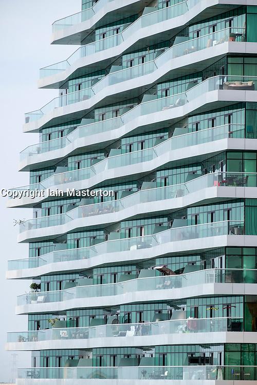 Apartment building at Al Bandar at Al Raha Beach district in Abu Dhabi United Arab Emirates