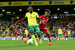 Cameron Jerome of Norwich City holds off Bobby Reid of Bristol City - Mandatory by-line: Robbie Stephenson/JMP - 16/08/2016 - FOOTBALL - Carrow Road - Norwich, England - Norwich City v Bristol City - Sky Bet Championship