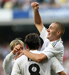 Real Madrid's Karim Benzema during La Liga match.September 2 2009.