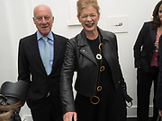 LORD NORMAN FOSTER; LADY FOSTER, Opening of Galerie Thaddaeus Ropac London, Ely House, 37 Dover Street.. Mayfair. London. 26 April 2017.