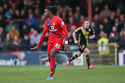 York City defender, on loan from Arsenal, Stefan OConnor  during the Sky Bet League 2 match between York City and Morecambe at Bootham Crescent, York, England on 19 December 2015. Photo by Simon Davies.