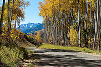 Heading down Last Dollar Road toward the Telluride valley.