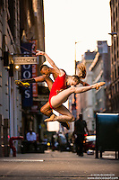 Streets of New York City Dance As Art Photography Project with dancers Jenna Simon and Daniel White