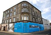 Historic information boards Wellington House, Wellington Street, Hull, Yorkshire, England