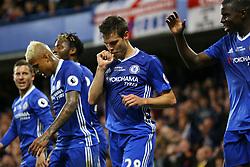 Goal, Cesar Azpilicueta of Chelsea scores, Chelsea 2-1 Watford - Mandatory by-line: Jason Brown/JMP - 15/05/2017 - FOOTBALL - Stamford Bridge - London, England - Chelsea v Watford - Premier League