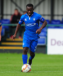 MOSES OLALEYE AFC DUNSTABLE,  AFC Dunstable v Marlow FC Evo Stick League South East, Saturday 9th September 2017<br /> Score 2-1:Photo:Mike Capps