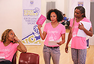 CAPE TOWN, SOUTH AFRICA - MARCH 10: Traci-lee Hendricks (18) of Portlands High School presents her topic during the TrackGirlz events at University of Western Cape on March 10, 2018 in Cape Town, South Africa. (Photo by Roger Sedres/ImageSA)