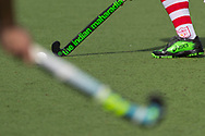 Tilburg - Tilburg - HDM Heren, Hoofdklasse Hockey Heren, Seizoen 2017-2018, 08-04-2018, Tilburg - HDM 5-1,  closeup sticks en bal, details<br /> <br /> (c) Willem Vernes Fotografie