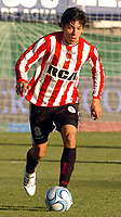 Fotball<br /> Argentina<br /> Foto: PikoPress/Digitalsport<br /> NORWAY ONLY<br /> <br /> ESTUDIANTES de La Plata player ENZO PEREZ during their Argentine First Division soccer match Vs. HURACAN in Buenos Aires June 01, 2008