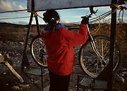 Mountain Biking, Bicycling, Fall, Autumn, Wrangell St. Elias, Wrangell St. Elias National Park, McCarthy, Kennicott, McCarthy Lodge, Alaska