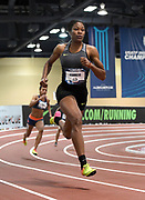 Mar 4, 2017; Albuquerque, NM, USA: Phyllis Francis wins the women's 300m in 36.15 during the USA Indoor Championships at Albuquerque Convention Center.