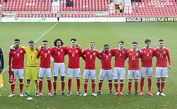 WREXHAM, WALES - Thursday, November 10, 2016: Wales and Greece before the UEFA European Under-19 Championship Qualifying Round Group 6 match at the Racecourse Ground. (Pic by Gavin Trafford/Propaganda)