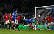 Pascal Gross of Brighton scores during the Premier League match between Brighton and Hove Albion and Manchester United at the American Express Community Stadium in Brighton and Hove. 04 May 2018