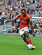 Michail Antonio during the Sky Bet Championship match between Bolton Wanderers and Nottingham Forest at the Macron Stadium, Bolton, England on 22 August 2015. Photo by Mark Pollitt.