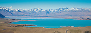 Panoramic of Lake Tekapo, 12x33-inches