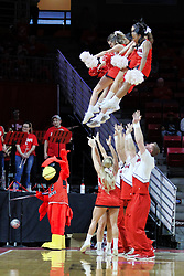 NORMAL, IL - January 05:  Redbird Cheerleaders during a college basketball game between the ISU Redbirds and the University of Evansville Purple Aces on January 05 2019 at Redbird Arena in Normal, IL. (Photo by Alan Look)