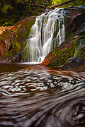 Whirlpool under a waterfall