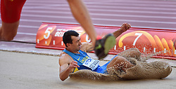 28-08-2015 CHN: IAAF World Championships Athletics day 7, Beijing<br /> Oleksiy Kasyanov (UKR) come pet at Long jump Decathlon<br /> Photo by Ronald Hoogendoorn / Sportida